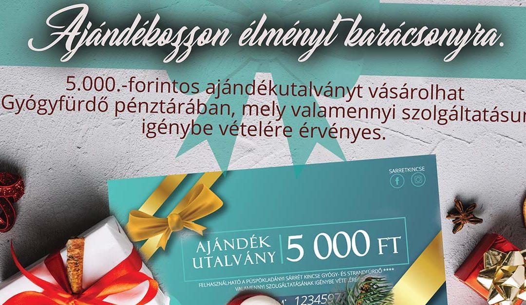 Ajándékozzon élményt karácsonyra.